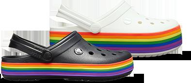 Classic Rainbow Clog, Crocband™ Rainbow Clog.