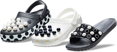 Pearl Covered Crocs Graphic