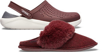 Classic Clog & LiteRide™ Pacer in Burgundy.
