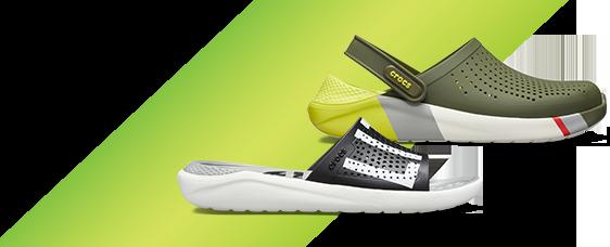 LiteRide™ Logo Slide & LiteRide™ Colorblock Clog