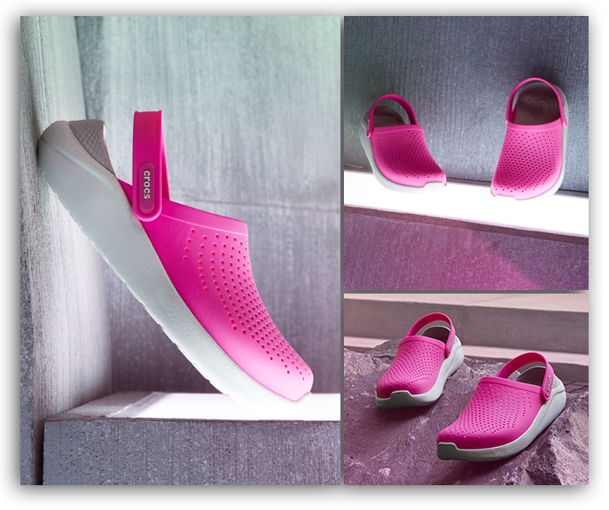 LiteRide Clog, Neon Pink.